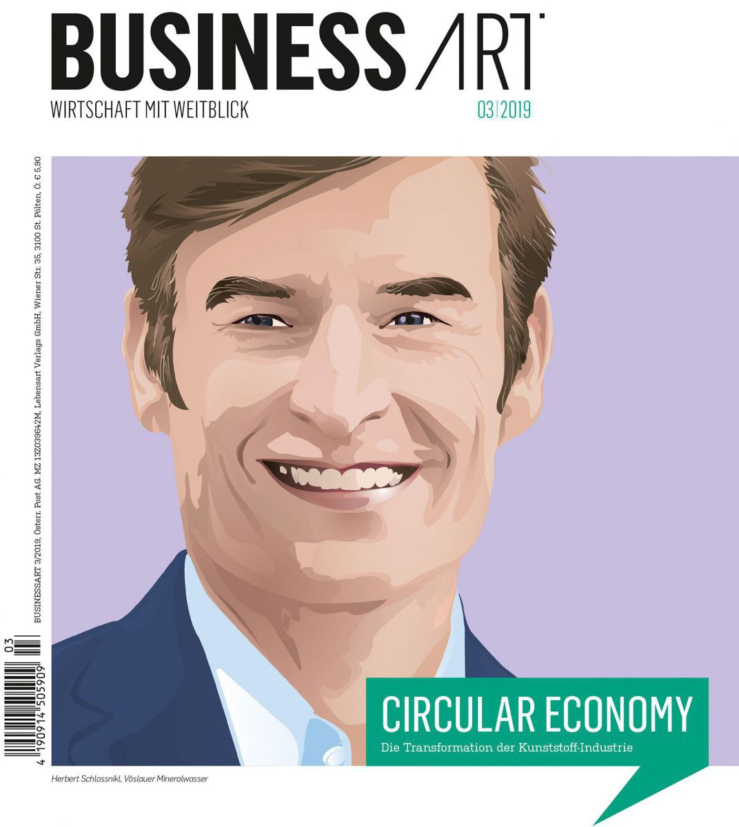 Herbert Schlossnikl am Cover der BUSINESSART